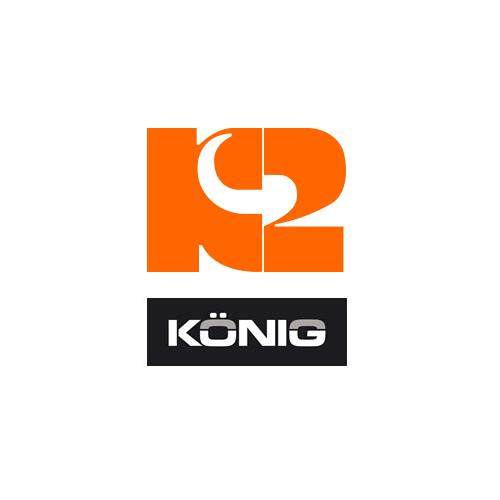 KONIG Cadeado Disco K2 Cromado 5mm C/reminder inc.