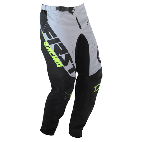 FIRST RACING Calça DATA EVO 2 Preto/Cinza/Fluo 2020 FIRST