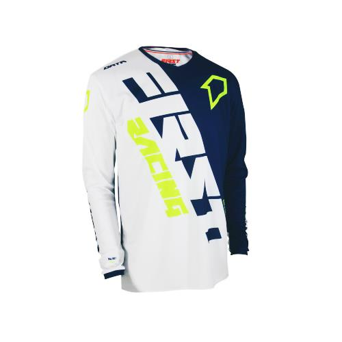 FIRST RACING Camisola DATA EVO MID Navy/Fluo 2019