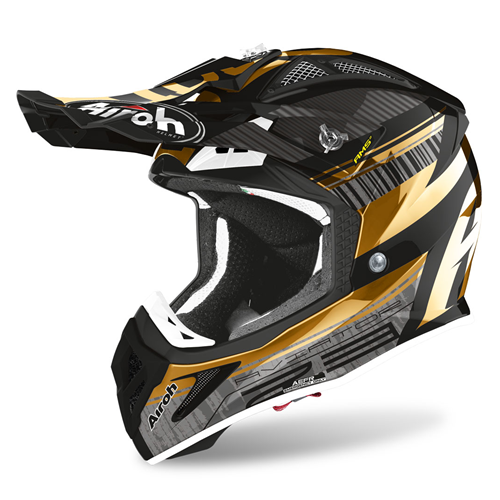 AIROH Capacete AVIATOR 2.3 NOVAK Chrome Gold 2020