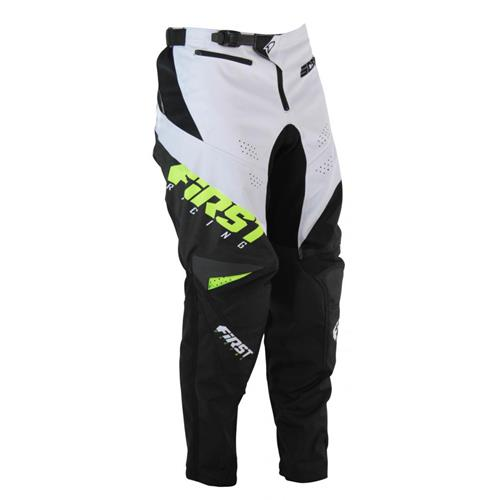 FIRST RACING Calça SCAN RACE 2 Preto/Branco/Fluo 2020 FIRST