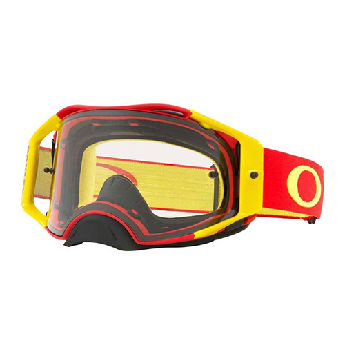 Oculos OAKLEY AirBrake MX Red Yellow Clear