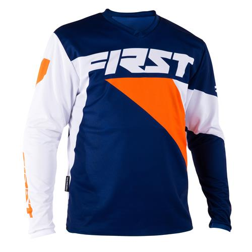 FIRST RACING Camisola DATA Navy/Laranja 2018