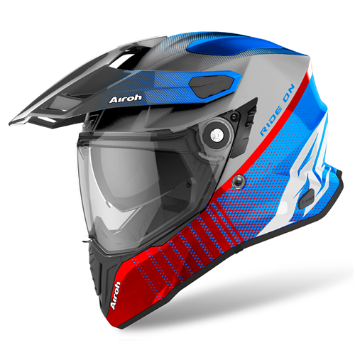 AIROH Capacete COMMANDER PROGRESS Verm./Azul Matt 2020