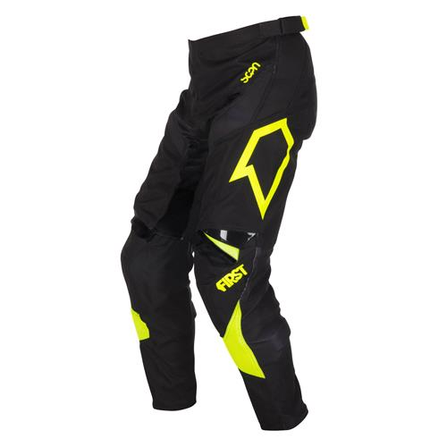 FIRST RACING Calça SCAN Preto/Neon 2018 FIRST