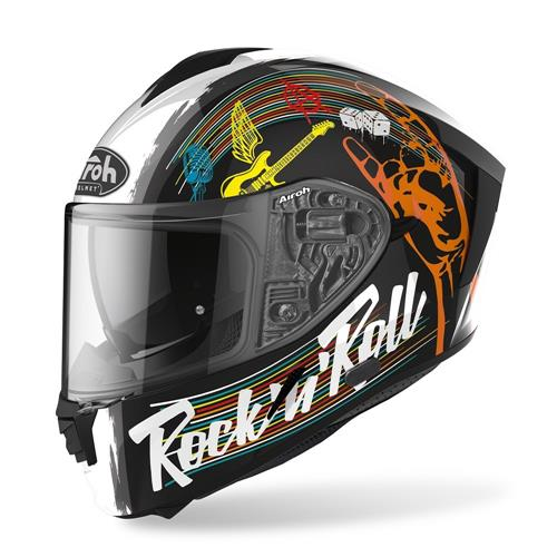 Capacete SPARK ROCK N ROLL Preto AIROH 2020 (outlet)
