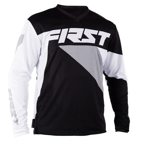 FIRST RACING Camisola DATA Preto/Cinza 2018