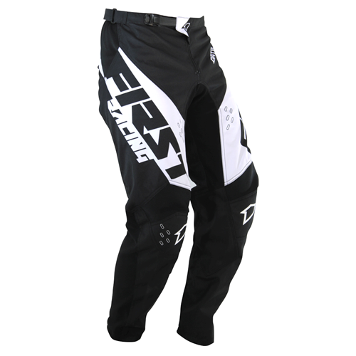 FIRST RACING Calça DATA EVO 2 Preto/Branco 2020 FIRST