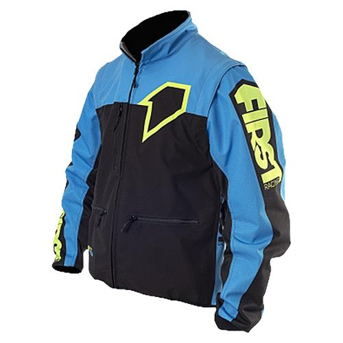 Blusão ENDURO LIGHT RACER Azul/Neon FIRST