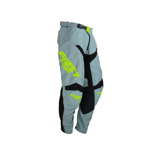 FIRST RACING Calça DATA EVO Cinza/Neon 2019