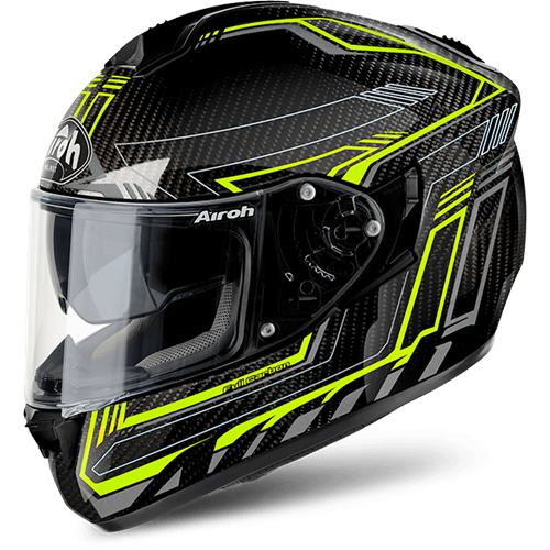 AIROH Capacete ST701 SAFETY FULL CARBON Amarelo AIROH