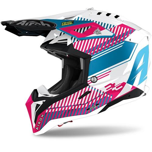 AIROH Capacete AVIATOR 3 WAVE Rosa Chrome 2020