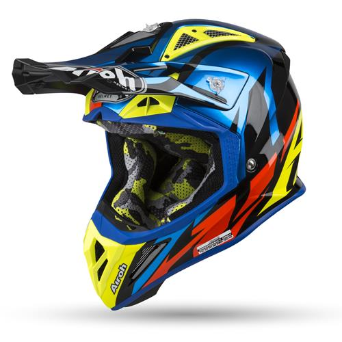 AIROH Capacete AVIATOR 2.3 GREAT Azul Chrome Gloss 2019