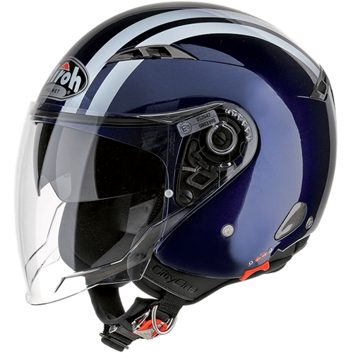 Capacete CITY ONE FLASH Azul Escuro AIROH