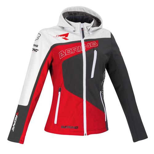 BERING Softshell RACING Lady Cinz/Verm./Branco 2019