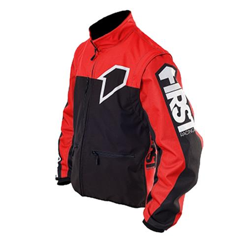 FIRST RACING Blusão ENDURO LIGHT RACER Preto/Vermelho FIRST