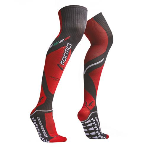 FORMA Meias LONG Compression Preto/Verm 39/42
