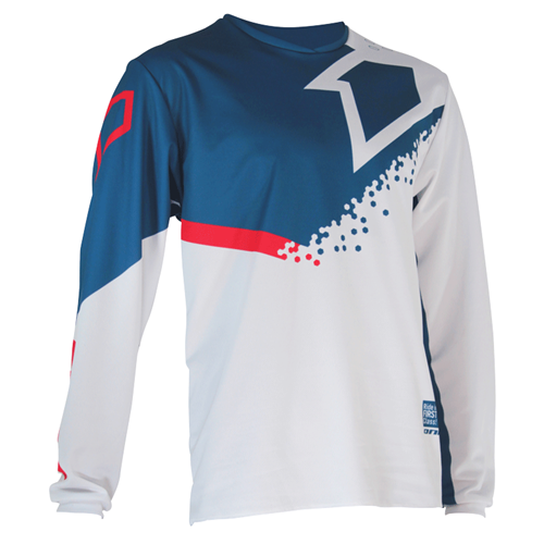 FIRST RACING Camisola DIRT Azul/Verm/Branco 2020