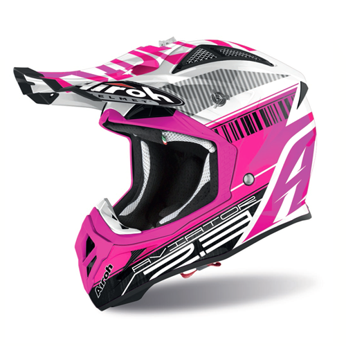 AIROH Capacete AVIATOR 2.3 NOVAK Chrome Rosa 2020