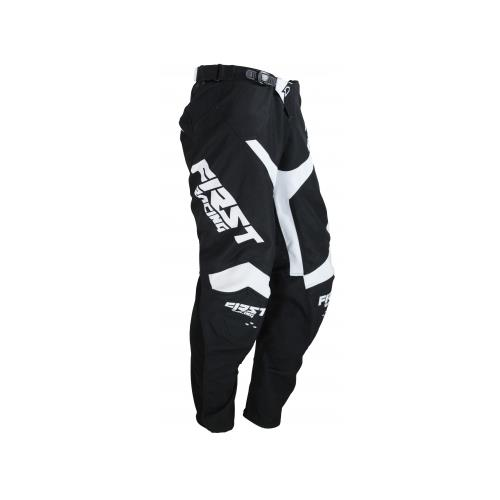 FIRST RACING Calça DATA EVO Preto/Branco 2019