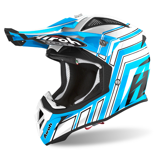 Capacete AVIATOR ACE ART Azure Matt 2020