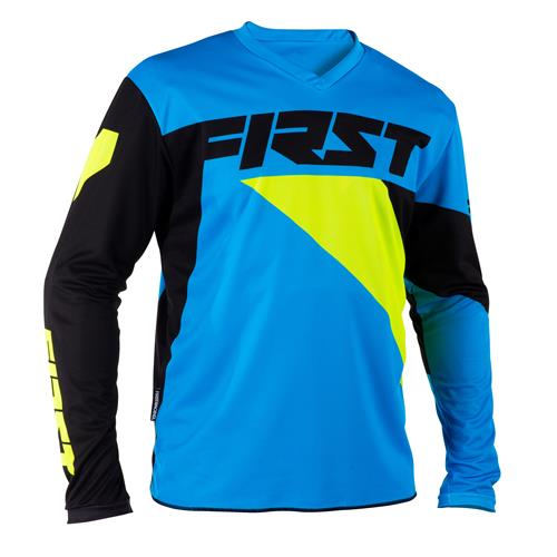 FIRST RACING Camisola DATA Azul/Neon 2018