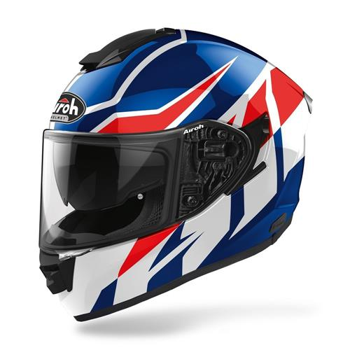 AIROH Capacete ST501 FROST Azul/Vermelho Gloss 2020