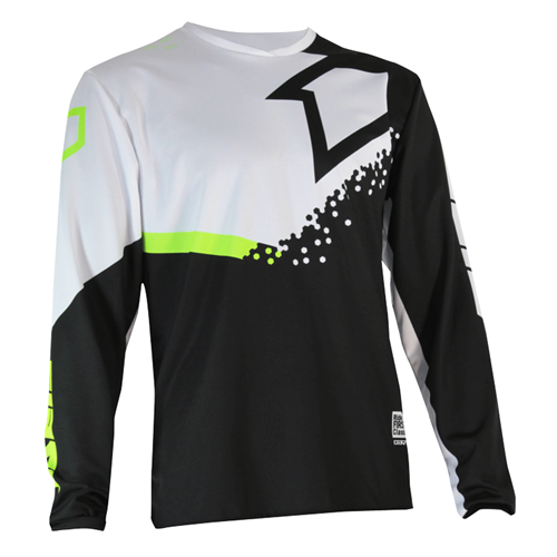 FIRST RACING Camisola DIRT Preto/Branco/Fluo 2020