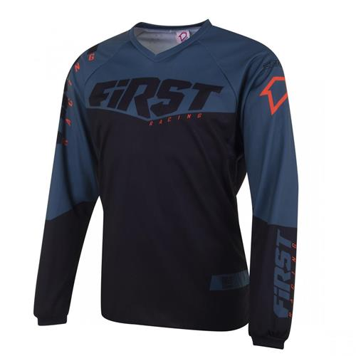 FIRST RACING Camisola GP Preto/Graphite/Laranja 2020