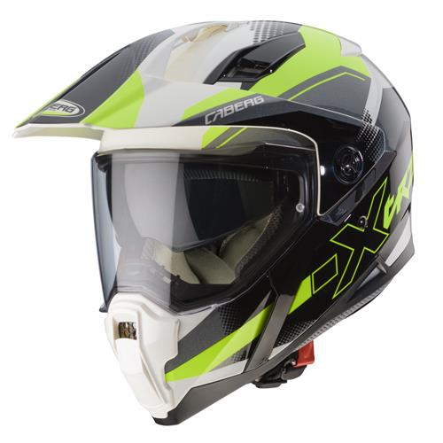 Capacete XTRACE SPARK Branco/Anthrac/Fluo Caberg