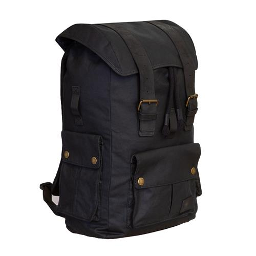 Merlin ASHBY CLASSIC WAXED COTTON RUCKSACK BLACK