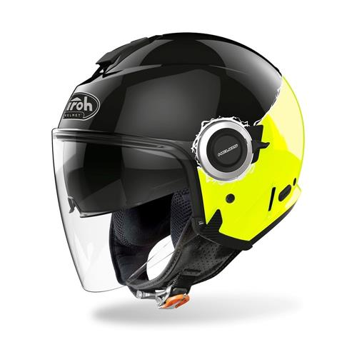 Capacete HELIOS FLUO Amarelo Gloss AIROH