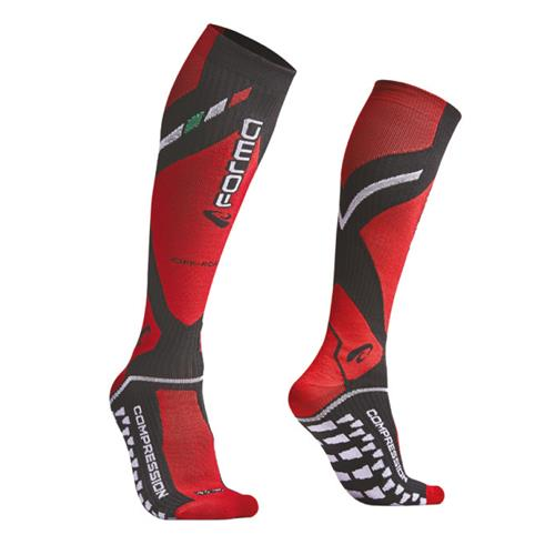 Meias Compression Preto/Verm 39/42
