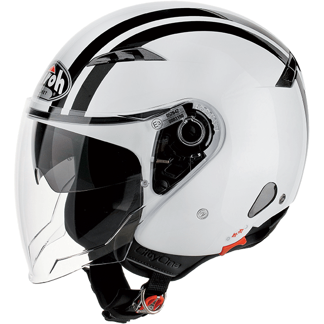 fa55b8761d24b AIROH Capacete CITY ONE FLASH Branco AIROH
